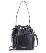 MICHAEL Michael Kors Black Leather Dottie Bucke... - $228.00