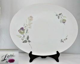 Sango Lori Oval Platter 16 Inch Porcelain - $27.71