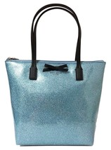 Kate Spade Mavis Street Jeralyn Mini Glitter Tote Bag Lakes Edge 100% Ve... - ₨4,406.96 INR