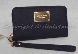 NWT! Michael Kors Large Multifunction Phone Wristlet / Wallet in Navy Blue. - £78.80 GBP