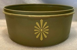 Vintage Collectible Tupperware Servalier Avocado Green canister #1204..N... - $6.92