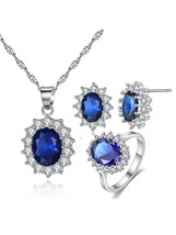 4Pcs Women's Jewelry Whole Set All Match Ring Vintage Studs Fashion Neck... - $22.99