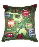 Camping Pillow Handmade in USA Campsite Pillow Vacation RV Lifestyle Nom... - $9.99