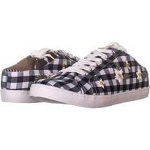 Betsey Johnson Edna Slip On Sneakers 875, Blue Gingham, 11 US - $23.02