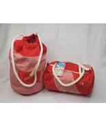 Vintage Ocean Pacific Beach Bag And Duffel Bag Orange And White Stripe - $76.32