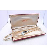VTG NOS RICHELIEU Faux Glass Pearl Choker Necklace in Box  - $74.25