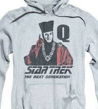 Star Trek The Next Generation Q USS Enterprise Retro 80s graphic hoodie CBS1373 image 3