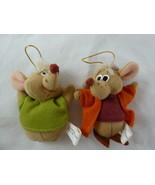 "Vintage Walt Disney Cinderella JAQ & GUS Mouse Plush Christmas Ornaments 3"" - $9.89"