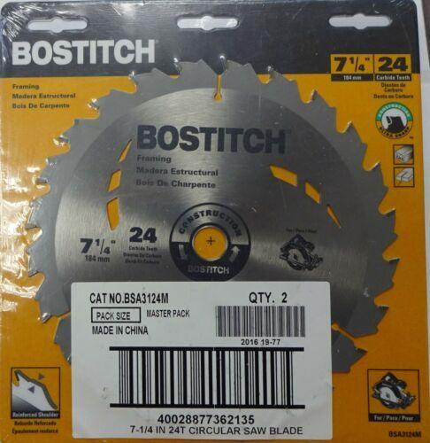 "Bostitch BSA3124M 7 1/4"" x 24 Tooth Carbide Circular Saw Blade 1 Blade - $8.91"