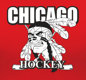 Chicago Hockey Sports Style Graphic T Shirt Black Red White L XL 2XL
