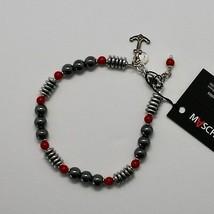 Bracelet en Argent 925 avec Corail Ed Hématite BLE-3 Fabriqué Italie By Maschia image 1