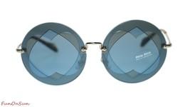 Miu Miu Women's Sunglasses MU01SS VA06P2 Azure HAZELNUT/BLUE Lens 62mm - $193.03