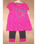 Circo Toddler Girls Shirt with Heart Black Pink... - $7.99