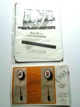 1 New Creative Circle Mini Monogram Stickpin #1931 & New Magnetic Stitch Finder - $11.87