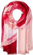 Calvin Klein Convertible Swirl Ombre Wrap Tie-Dye Pashmina Scarf Shawl, Pink Hib - $19.00