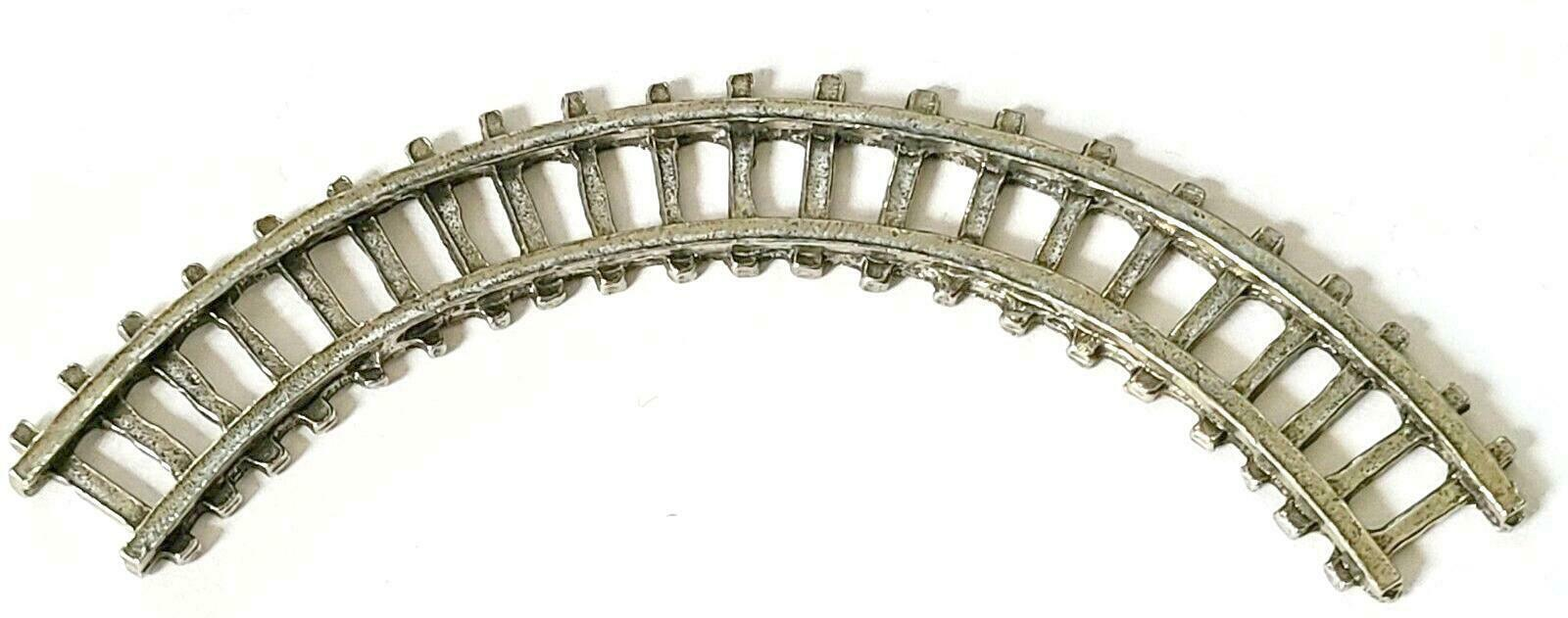 CURVED RAILROAD TRAIN TRACK FINE PEWTER - Approx 3 1/8 inches Long (T168)