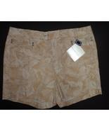 Bandolinoblu Beige Camouflage Denim Shorts NWT Women's SZ 14 Stretch - $15.99