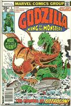 GODZILLA #4 MARVEL COMICS 1977 Fine- range 1st print and series - $9.90