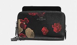 Coach F55676 Halftone Floral Double Zip Phone Wallet/Wristlet NWT - $83.16
