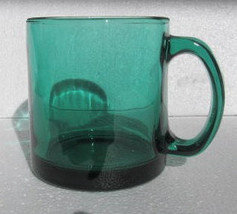 Libbey Green Color Collectible Large Solid Glass Mug-USA - $9.99