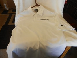 Men's Nike Golf Dri-Fit Polo Shirt Laphroaig Whisky Opinions Welcome Size Small - $22.27