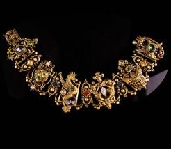 Vintage Bookchain Bracelet - Vintage Dragon Baroque Lion Bacchus cherub ... - $625.00