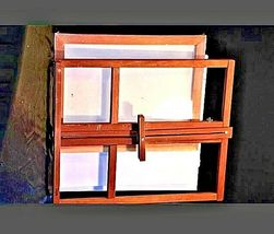 Vintage Wooden Desk Easel with 4 new canvasAA19-1432 image 4