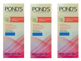 3 X Pondss Perfect Colour Complex Beauty Cream BRAND NEW SEALED PACKS 40... - $17.79