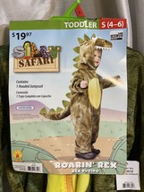 Safari Rex Dinosaur Boys Costume Alligator Jurassic Park 4-6 Toddler Jum... - $14.80