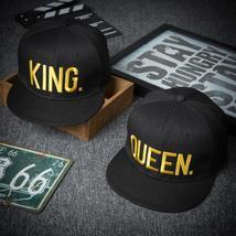 Men and Women Fashion QUEEN/KING Basdeball Cap Hip Hop Letter Print Caps Couple