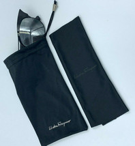 Salvatore Ferragamo Sunglasses Eyeglass Case Bag Pouch Black And Cleanin... - $29.50