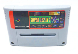 122 in 1 Super Nintendo SNES multi cart game cartridge for PAL EUR Console Gray - $32.92