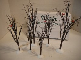 """Department 56 Village BARE BRANCH Trees #52623 - Set of 6 (Two 12"""", 9.5""""... - $32.68"""