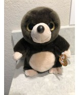 """Ty Beanie Boos Plush Toy Beaver DIGBY Stuffed Animal 9"""" ~ Big Eyes A8 - $19.95"""