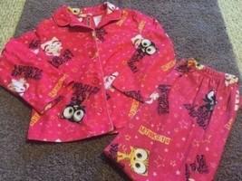 Miskits Girls 2 Piece Pajamas Pink Cats Fleece Long Sleeve Shirt Pants S... - $6.43