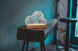 Mooas USB Wired Acryl LED Cloud Night Mood Lights Lighting Lamp Indoor Interior image 3
