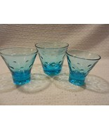 Hazel Atlas  Aqua Capri Dots Old-Fashioned Glass & 2 - 4 oz Cocktails - $9.89