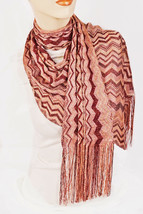 New STYLE&CO Sparkly Lurex ZigZag Pattern Womens Scarf Special Occasion ... - €8,26 EUR