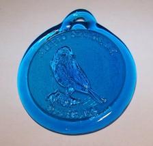 ALFRED STATION NY BLUEBIRD BLUE GLASS WINDOW SUN CATCHER - $9.89