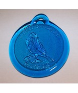 ALFRED STATION NY BLUEBIRD BLUE GLASS WINDOW SUN CATCHER - $9.89