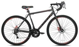 Men's 700c Nazz Elegant Gravel Road 14-Speed Bike, Dual Disc Brakes, Black - $320.05