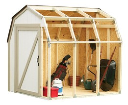 Storage Shed Outdoor Garden Tool Home Backyard Lawn Barn Style Roof Whit... - $83.64