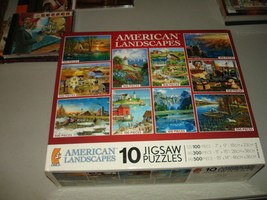 American Landscapes 10 Jigsaw Puzzles, Ceaco, Brand New, Sealed - $29.69