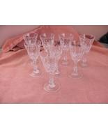 8 Vntg Mikasa Fine Crystal Wine Cocktail Stem Glasses Goblets - $94.05