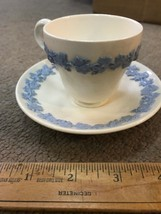 Wedgwood Queensware Embossed Lavender On Cream Demitasse Cup And Saucer - $23.22