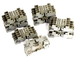 LOT OF 8 IDEC SY4S-05 RELAY SOCKETS SY4S05, 7A, 300V