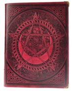 600 Page Pentagram Spell Book Red white paper - $144.99