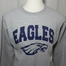 Vintage Champion Philadelphia Eagles Crew Neck Sweatshirt M Gray - $33.37