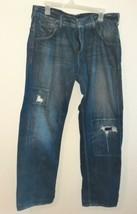 Mens Guess Rebel Straight Leg Blue Jeans size 36 X 32 - $19.80