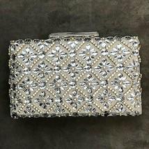 Sondra Roberts Jeweled Taupe Satin Clutch - $99.00